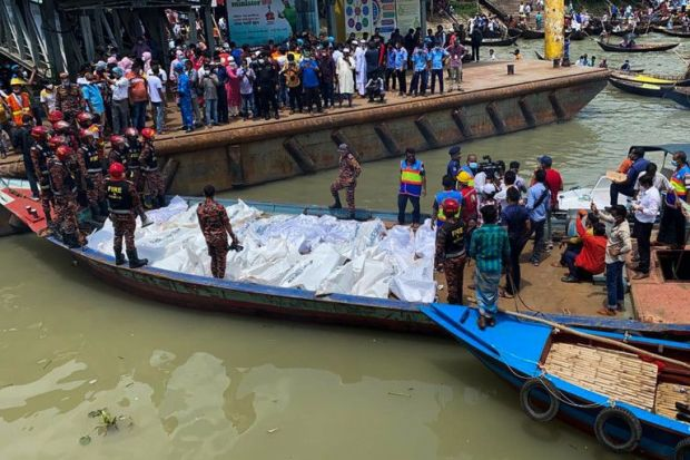 In pictures: Ferry capsizes in Bangladesh river, many killed ...