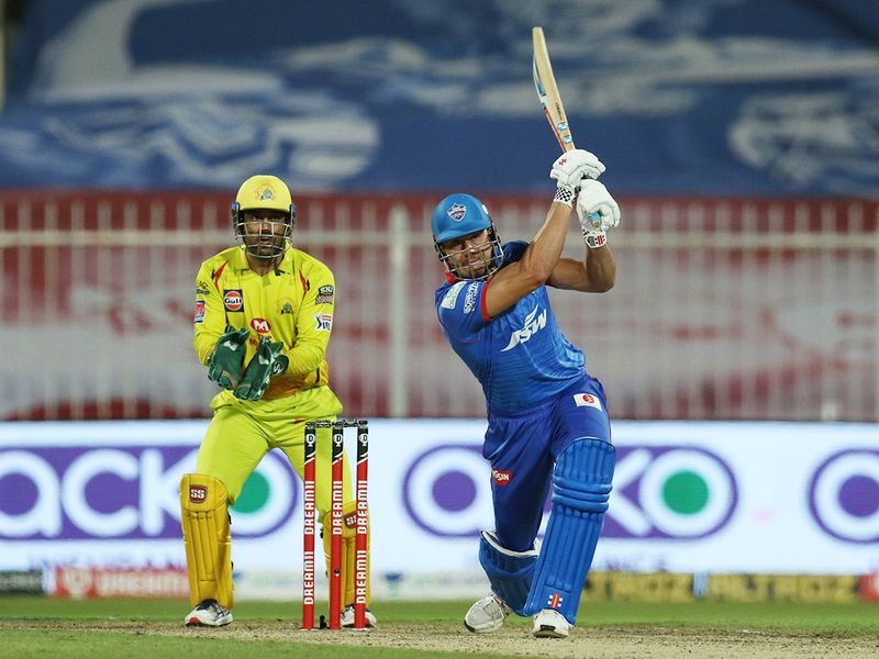 Marcus Stoinis of Delhi Capitals bats during the match.