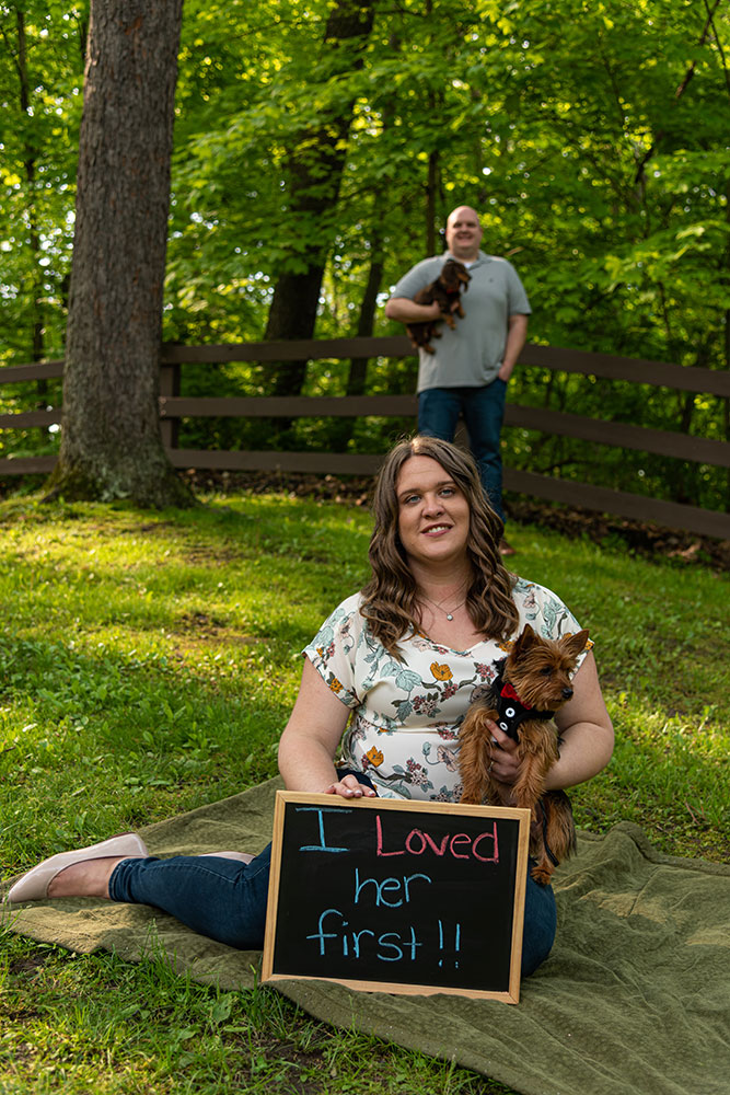 outdoor Engagement photography Mark Nowak Image Vision Studios Elyria Ohio pets