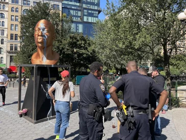 , NYC George Floyd Statue Vandal Seen in Surveillance Video, Nzuchi Times National News
