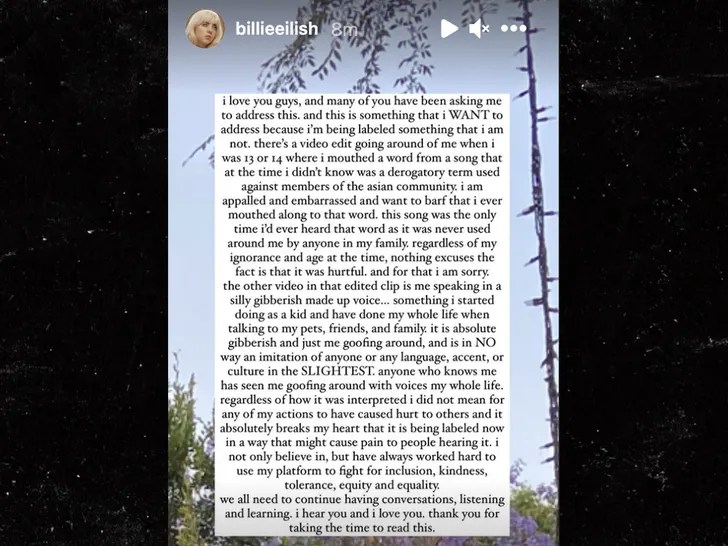 Billie Eilish deals with accusations of racism