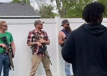 Armed White Residents Stare Down BLM Protesters in Indiana