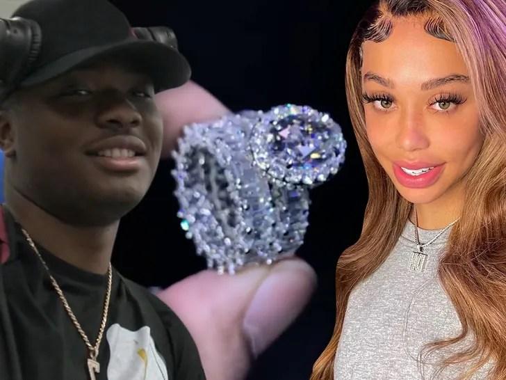 Dwayne Haskins Kalabrya engagement ring