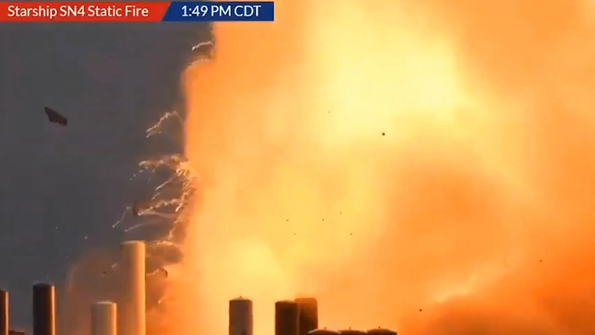 SpaceX Unmanned Test Rocket Explodes on Launch Pad