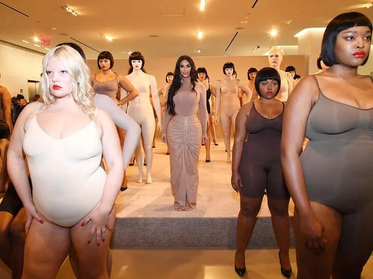 Kim Kardashian Brings SKIMS Line to Nordstrom with Human Mannequins