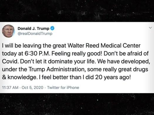 Trump Leaving Hospital, Tells Americans 'Don't Be Afraid of COVID' 2