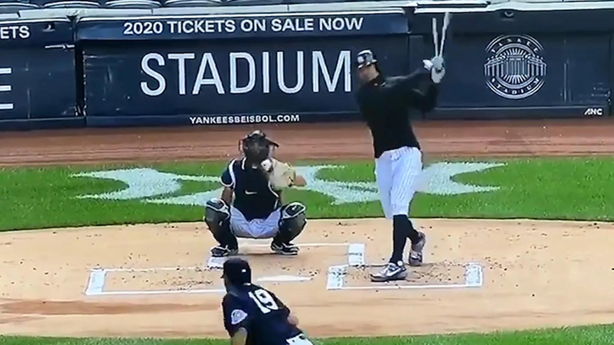 Yankees' Masahiro Tanaka Takes Stanton's Line Drive to the Head