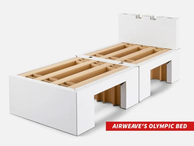 Cardboard Beds at Olympics