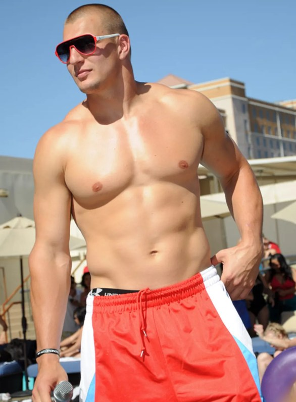 Rob Gronkowski Hosts Topless Pool Party