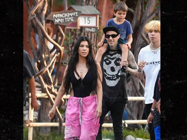 Kourtney Kardashian and Travis Barker Disneyland