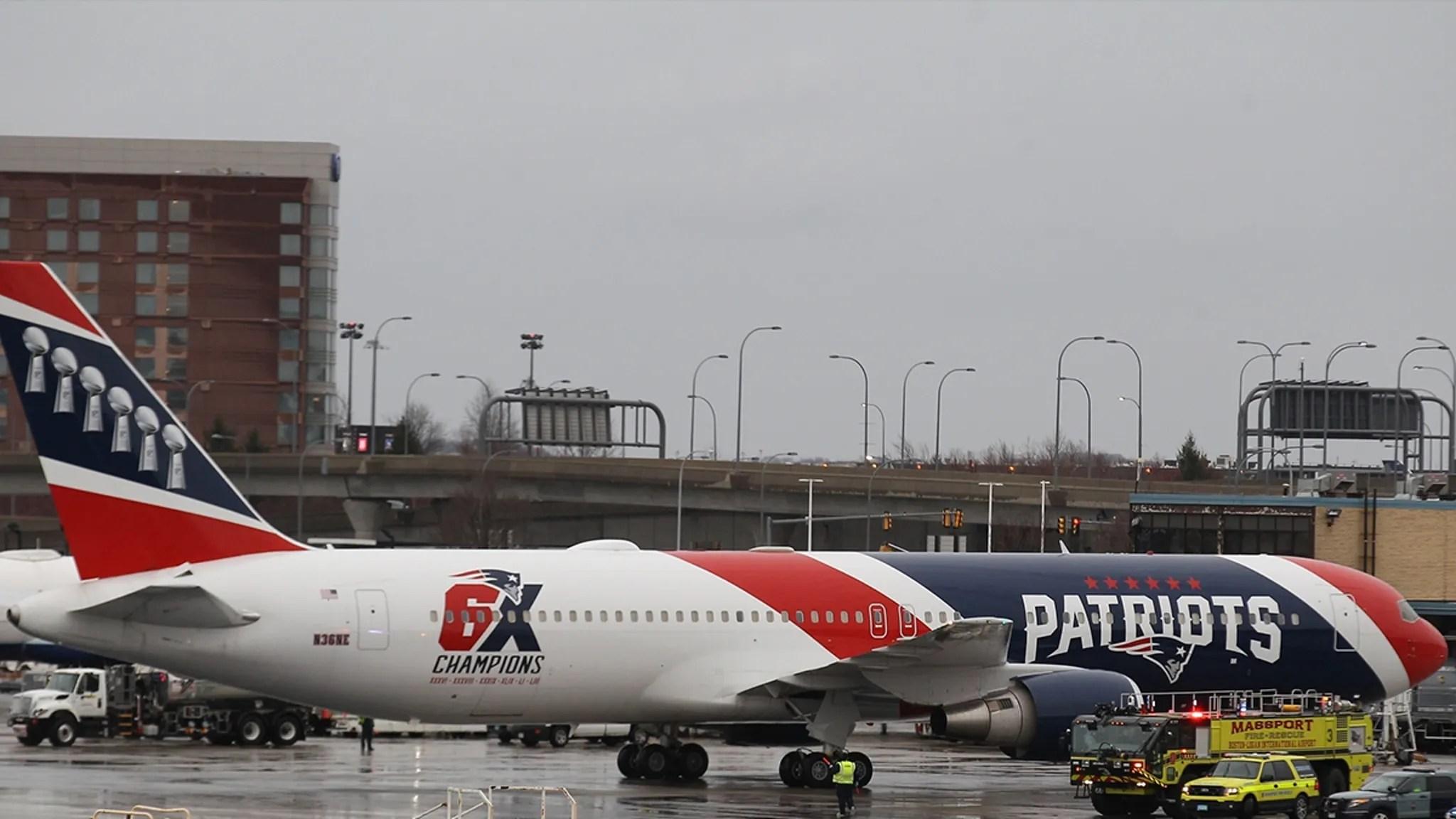 Patriots' Team Jet Bringing 1.2 Million Masks from China Arrives In Boston