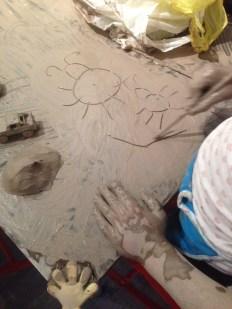 Clay drawing, 2015