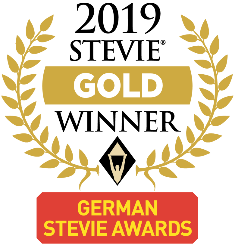 Stevie Award Logo GSA19 Gold Winner STARFACE