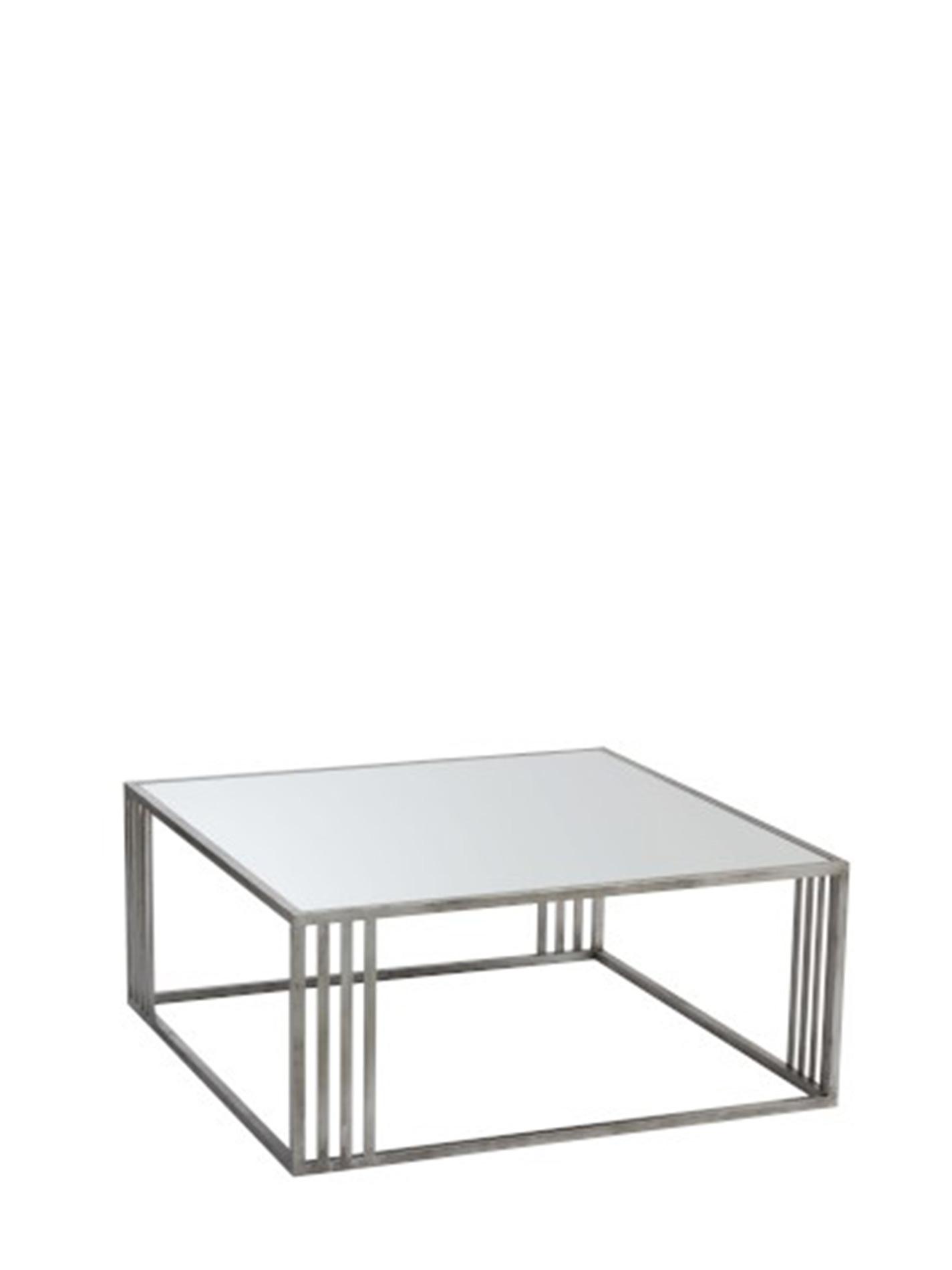 Salontafel Glas Rechthoekig.Zilverkleurige Salontafel Met Glazen Blad