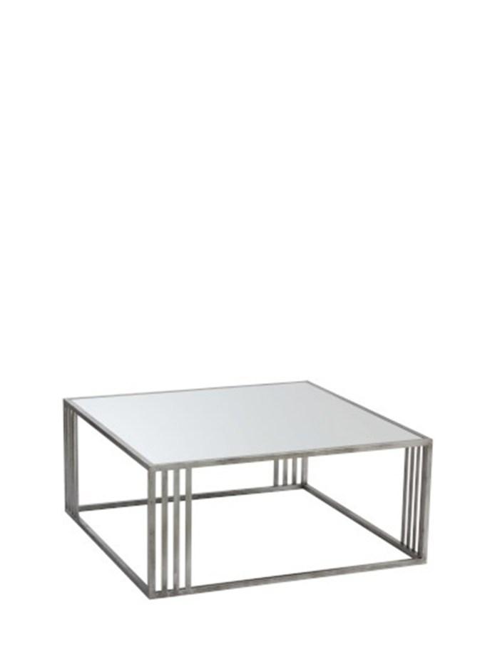 Salontafel Rechthoekig Metaal/Glas Zilver