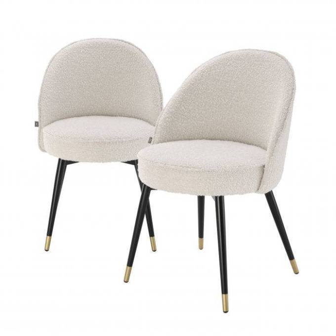 Dining Chair Cooper bouclé cream set of 2