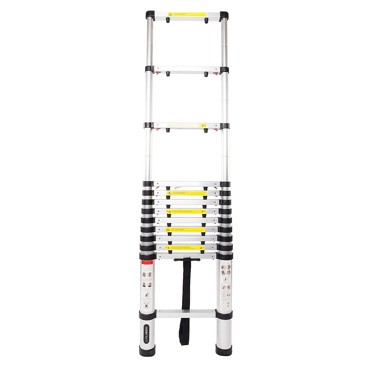 Telescoping Extension Ladder Aluminum 12 5ft Multi Purpose