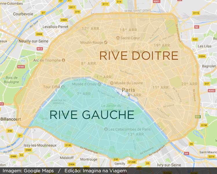 Rive Gauche e Rive Doitre - Paris. © Imagina na Viagem