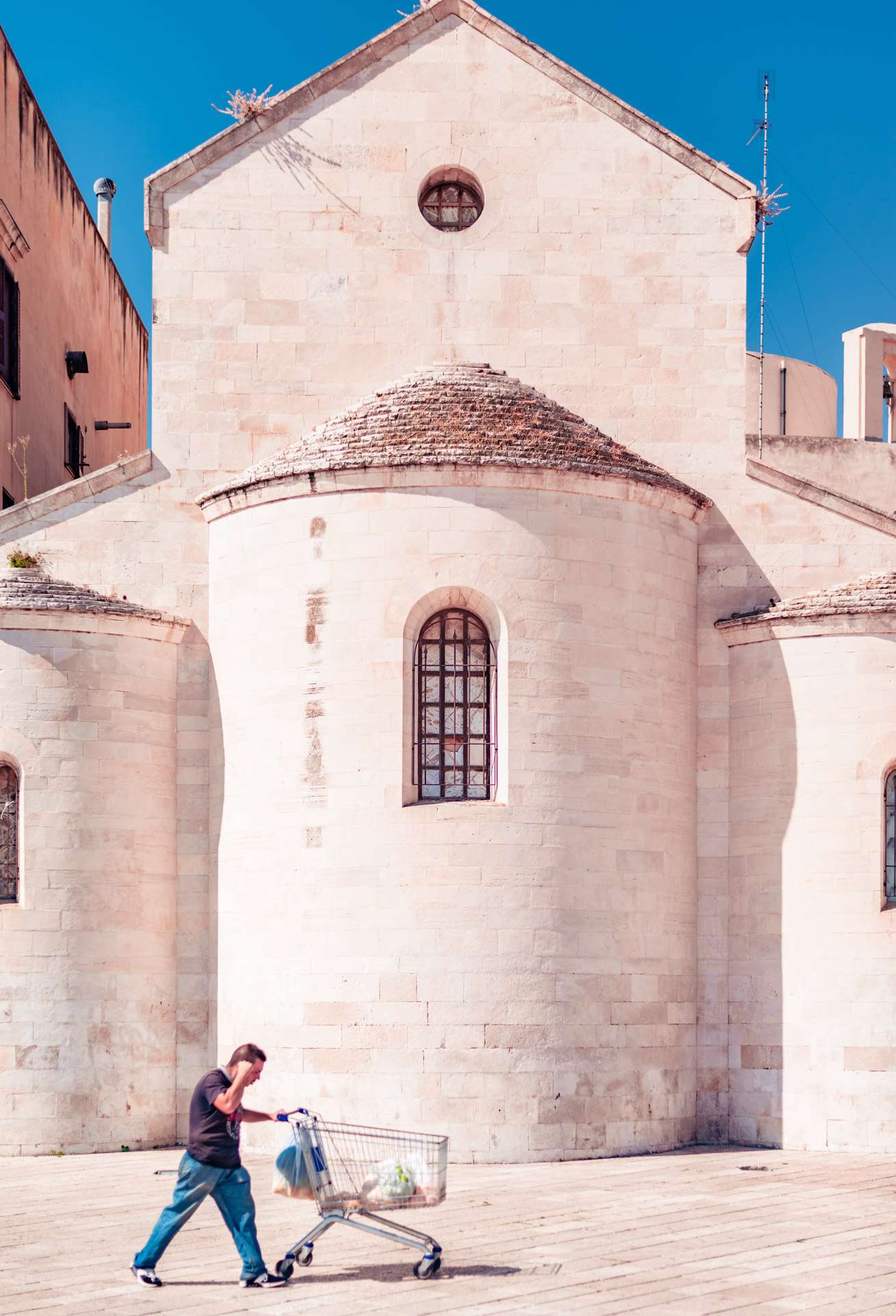 Vallisa church in the old town of Bari city.
