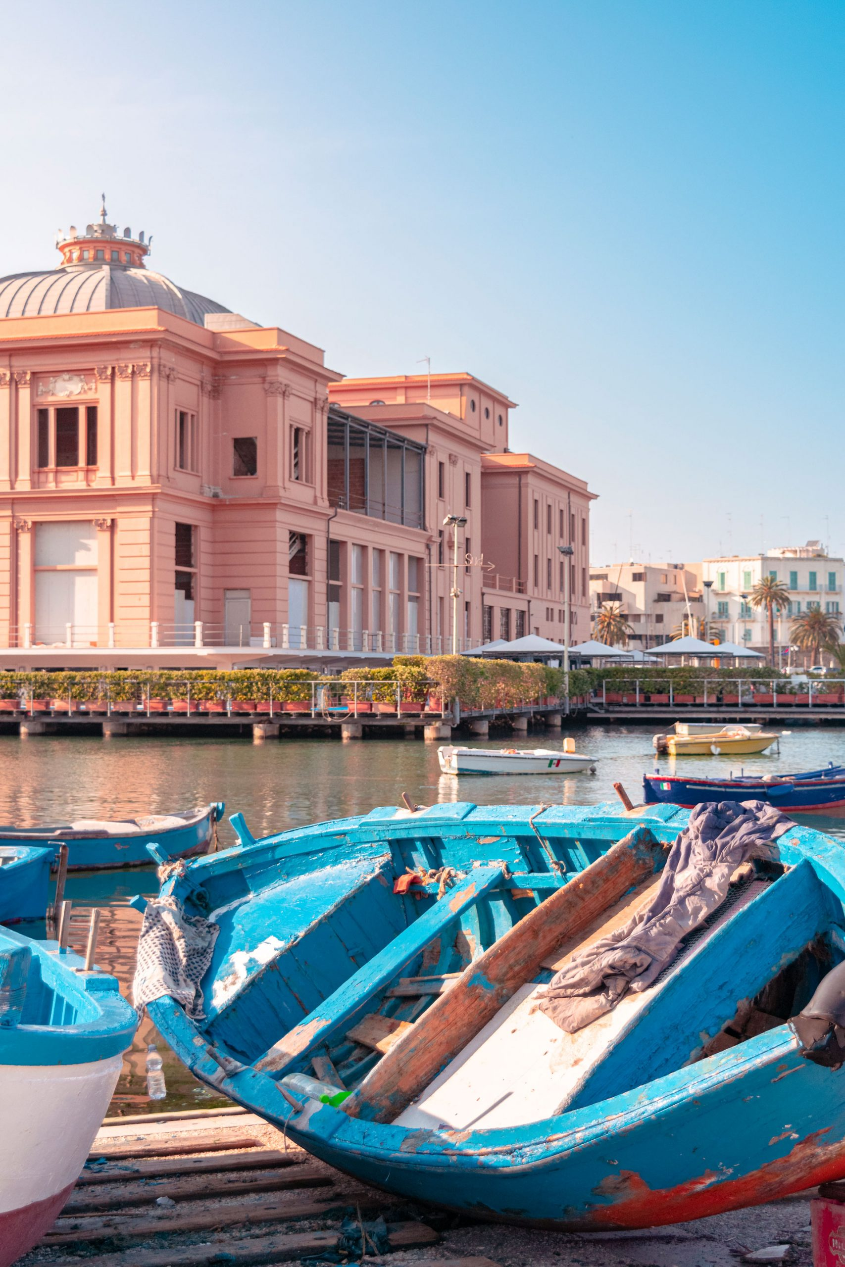 The Margherita Theatre with the local boats | Bari city tour, Puglia, Italy
