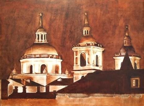 Monasterio San Lorenzo de El Escorial - 60x80cm - Técnica mixta sobre tabla