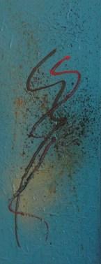 Aborigen II - 50x20cm - Acrílico sobre lienzo