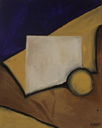 Escencia 2 - 100x80cm - Óleo y técnica mixta sobre lienzo (Serie: Regreso permanente. La otra trinchera.)