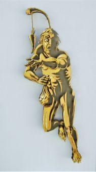 La avaricia - 120x60cm - Escultura de madera formada por 127 piezas (2012)
