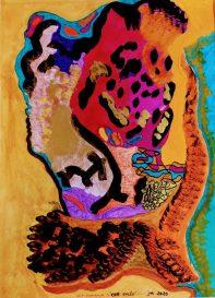 Nit flamenca Cor encès - 30x40 - Tinta China y Rotuladores sobre Cartulina