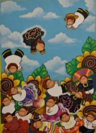 Suke Guelaguetza - 55 x 75 cm. Acrílico sobre lienzo