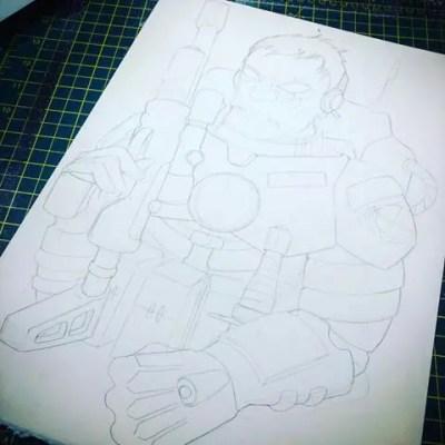 Marine X Sketch by Bootneck Banksy