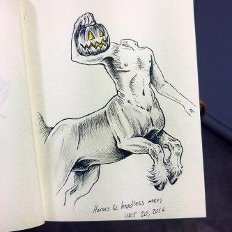 Imaginary Karin - inktober drawlloween centaur