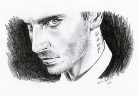 Imaginary Karin - Michael Fassbender drawing