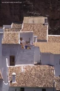 TEJADOS. Un detalle de los tejados de Setenil, cénit perfecto de las casas blancas. Foto. ANTONIO SUÁREZ DE ARCOS