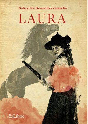 """Portada de """"Laura"""", novela que da continuidad de """"El garrochista"""", y cuyo primer capítulo se distribuyó en el acto de presentación."""