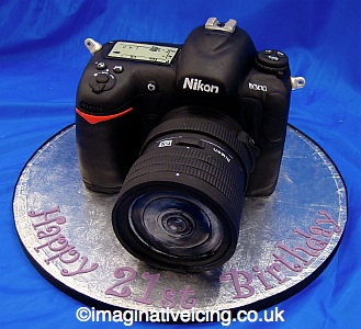 Slr Camera Birthday Cake Imaginative Icing Cakes