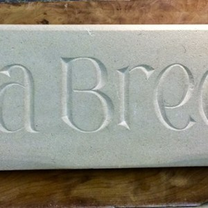 House Sign Sea Breeze by Imagine Stone Stonemason in Cornwall