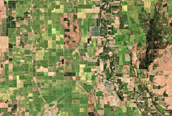 Californie agriculture imaginearth satellite