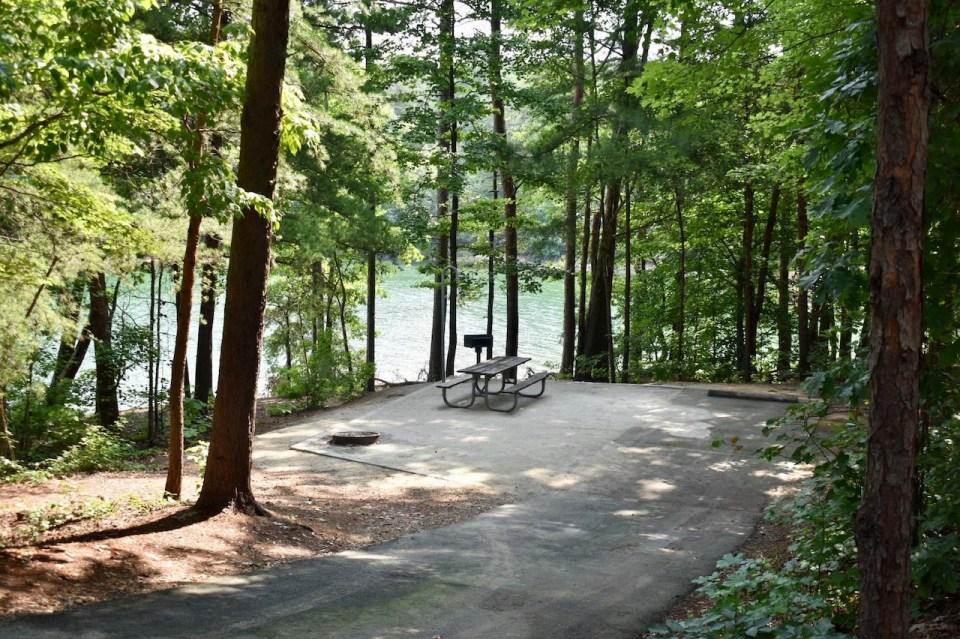Site 25 Duckett Mill Campground