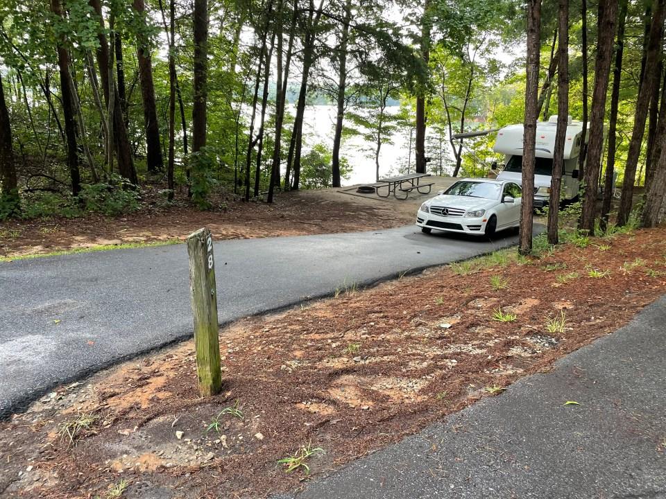 Site 28 Duckett Mill Campground