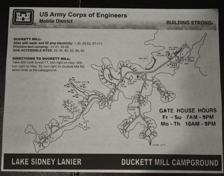 Duckett Mill Campground Map