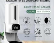 K9 Pro Plus 2 in 1 Infrared Thermometer Soap Sanitizer Dispenser nairobi