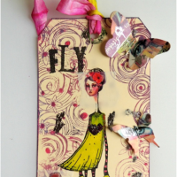 Easy and Edgy Mixed Media Tag