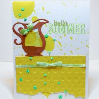 See How to Make a Summer Card with Cool Lemonade