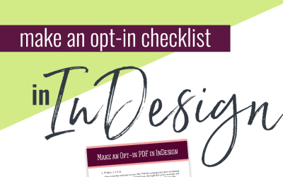Make an Easy Opt-in Checklist in InDesign