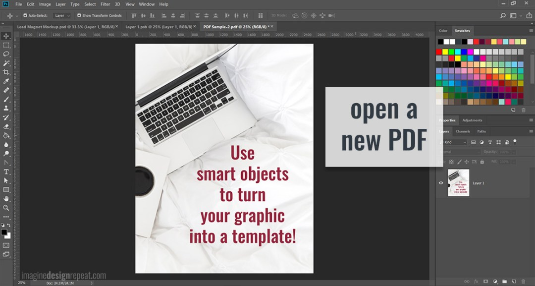 Ever wonder how to add a PDF to a photo? It's easier than you think! Show off your lead magnets, ebooks and any PDF by making a real-life mockup.