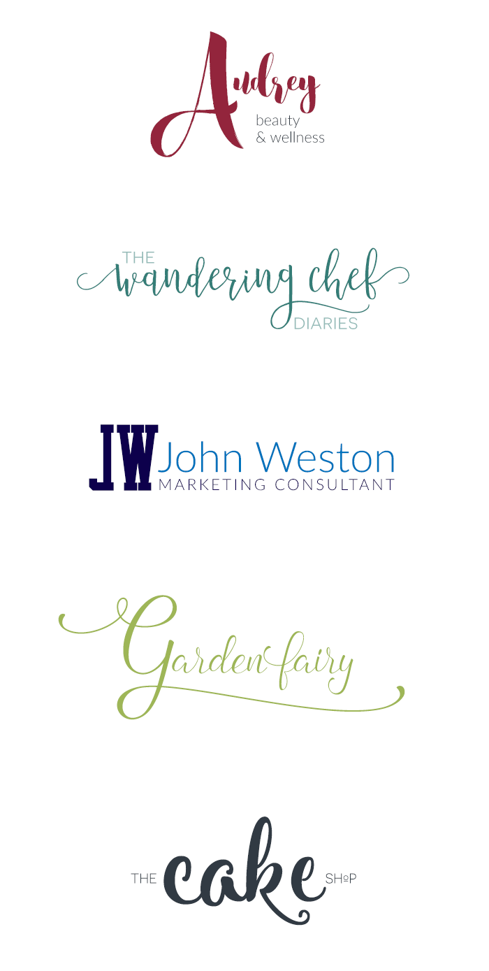 Need a logo for your blog, shop, product, or course? Make it yourself! See this simple logo inspiration for classy but easy ideas.