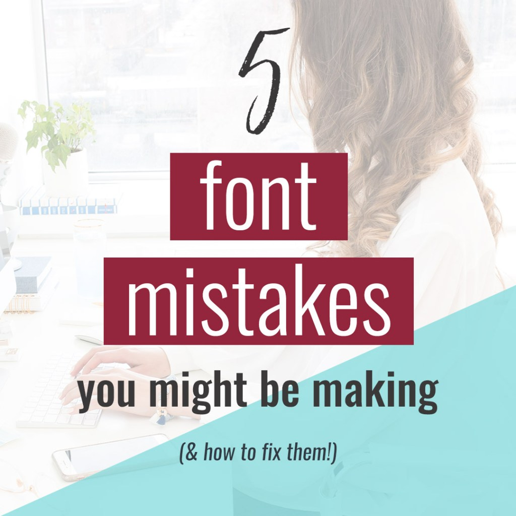 I see these font mistakes all the time, and they kill an otherwise good graphic! They're easy mistakes to make, but they're also easy to fix!