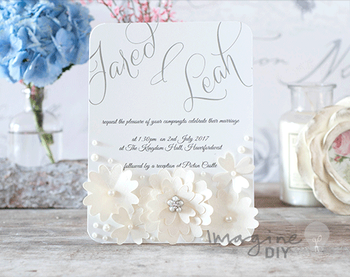 Wedding Invitations Sale Uk: How To Make… Lace Flowers With Pearls Wedding Invitation