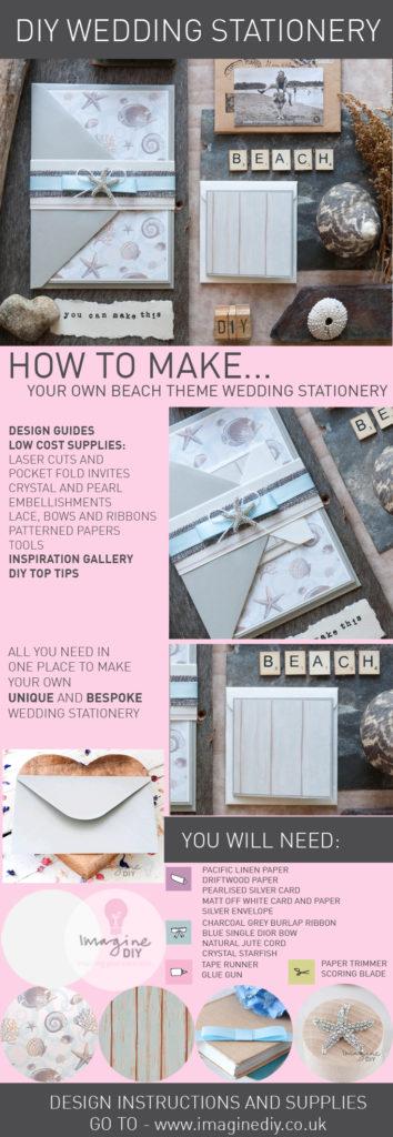 How To Make Beach Theme Wedding Invitation Imagine Diy
